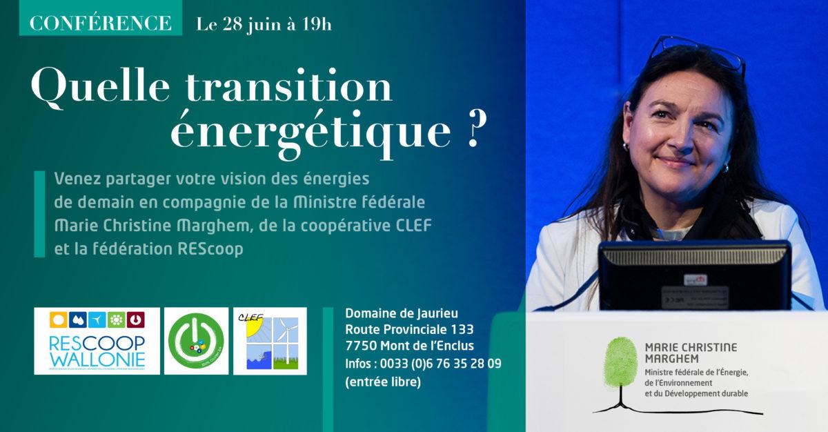 28/06 Conférence avec la ministre fédérale de l'Énergie, de l'Environnement et du Développement durable.