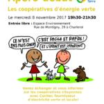 Les Amis de la Terre vous invite cordialement à venir échanger sur les coopératives citoyennes d'énergie verte.